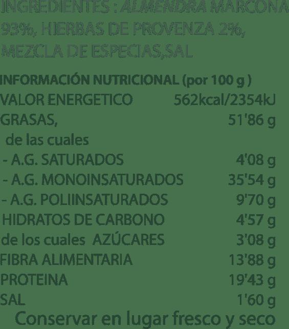Ingredients i riquesa nutricional mescla d'armeles tostades
